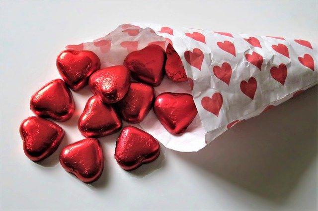 ハートのチョコレートの画像