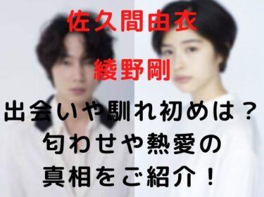 佐久間由衣と綾野剛の出会いや馴れ初めは?匂わせや熱愛の真相をご紹介!