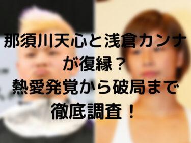那須川天心と浅倉カンナが復縁?熱愛発覚から破局まで徹底調査!