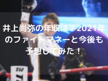 井上尚弥の年収は?2021年のファイトマネーと今後も予想してみた!